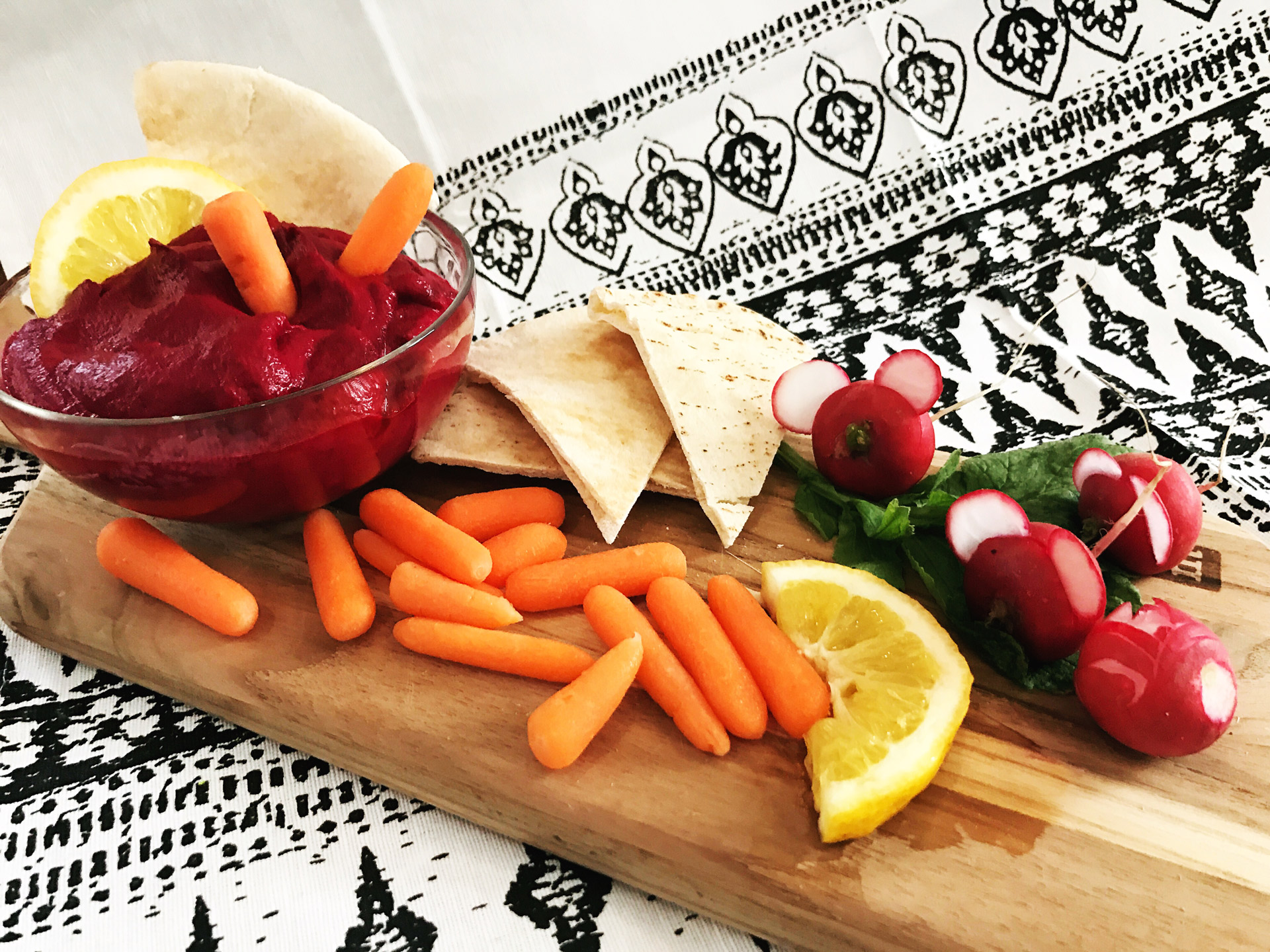 Roasted Red Beet Hummus